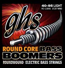 GHS Round Core Bass Boomers Nickel Wound Bass String Set Long Scale - 4-String 40-095 RC-L3045
