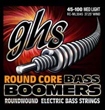 GHS Round Core Bass Boomers Nickel Wound Bass String Set Long Scale - 4-String 45-100 RC-ML3045