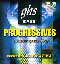 GHS Progressives Filament Grade Alloy Electric Bass Strings Long Scale - 4-String 35-095sh XL8000
