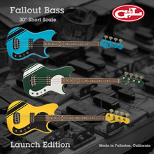 G&L USA Fallout Short Scale 4-String Electric Bass Guitar - Launch Edition