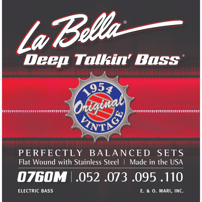 La Bella Deep Talkin' 1954 Originals Flatwound Bass String Set Long Scale - 4-String 53-110