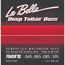 La Bella Deep Talkin' Flatwound Electric Bass Strings Long Scale Set - 4-String 45-105 760FS