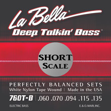 La Bella Deep Talkin' White Nylon Tapewound Short Scale - 5-String 60-135T 760T-B-S