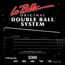 La Bella Double Ball End Stainless Steel Round Wound 5-String 45-128