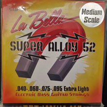 La Bella Super Alloy 52 Bass Strings Medium Scale - 4-String 40-095 SAB40-M