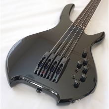 Willcox Guitars Powered by Lightwave Systems Saber Bass w/ HexFX 4-String Fretless Black