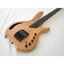 Willcox Guitars Powered by Lightwave Systems Saber Bass 4-String Fretless Natural