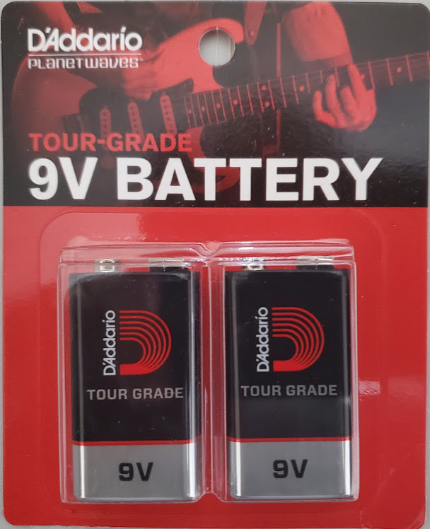 D'Addario Tour Grade 9v Battery 2-Pack