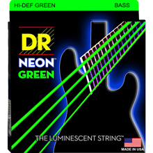 DR NEON Green Coated Electric Bass Strings Short Scale Set - 4-String 45-105 SNGB-45