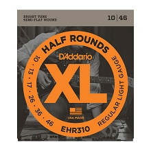 D'Addario Half Rounds Electric Guitar String Set 10-46 Regular Light EHR310