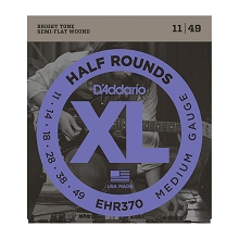 D'Addario Half Rounds Electric Guitar String Set 11-49 Medium EHR370