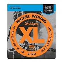 D'Addario XL Nickel Wound Electric Guitar String Set 10-49 Wound 3rd Jazz Extra-Light EJ20