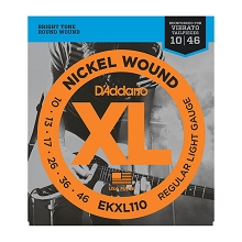 D'Addario XL Nickel Wound Electric Guitar String Set 10-46 Reinforced Plains Light EKXL110
