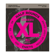 D'Addario Half-Round Bass String Set Short Scale - 4-String 45-100 Light ENR71S