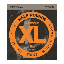 D'Addario Half-Round Bass String Set Long Scale - 4-String 50-105 Medium ENR72