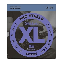 D'Addario ProSteels Stainless Electric Guitar String Set 11-50 Medium EPS515