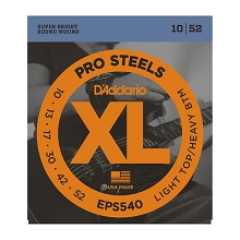 D'Addario ProSteels Stainless Electric Guitar String Set 10-52 LT/HB EPS540