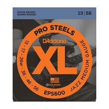 D'Addario ProSteels Stainless Electric Guitar String Set 13-56 Wound 3rd EPS600