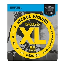 D'Addario XL Nickel Wound Electric Guitar String Set Double Ball End 09-46 ST/RB ESXL125