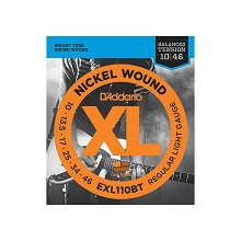 D'Addario XL Nickel Wound Electric Guitar String Set 10-46 Balanced Tension Light EXL110BT