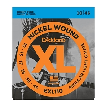 D'Addario XL Nickel Wound Electric Guitar String Set 10-46 Light EXL110