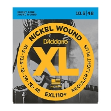 D'Addario XL Nickel Wound Electric Guitar String Set 10.5-48 Light Plus EXL110+