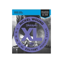 D'Addario XL Nickel Wound Electric Guitar String Set 11-50 Balanced Tension Medium EXL115BT