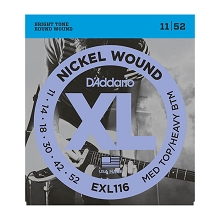 D'Addario XL Nickel Wound Electric Guitar String Set 11-52 MT/HB EXL116