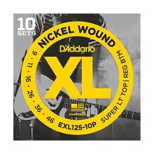 D'Addario XL Nickel Wound Electric Guitar String Sets 09-46 ST/RB EXL125-10P 10-Pack