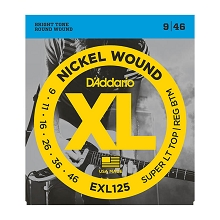 D'Addario XL Nickel Wound Electric Guitar String Set 09-46 ST/RB EXL125