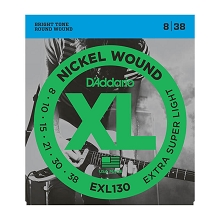 D'Addario XL Nickel Wound Electric Guitar String Set 08-38 Extra-Super-Light EXL130