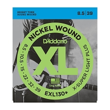D'Addario XL Nickel Wound Electric Guitar String Set 08.5-39 Extra-Super-Light Plus EXL130+
