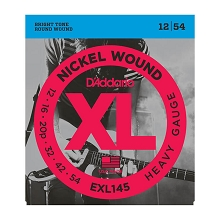D'Addario XL Nickel Wound Electric Guitar String Set 12-54 Heavy EXL145