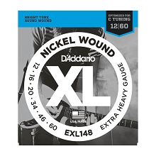D'Addario XL Nickel Wound Electric Guitar String Set 12-60 C-Standard Extra-Heavy EXL148