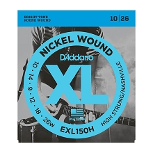 D'Addario XL Nickel Wound Electric Guitar String Set 10-26 Nashville Tuning EXL150H