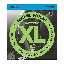 D'Addario XL Nickel Wound Bass String Set Long Scale - 4-String 45-105 Custom Light EXL165