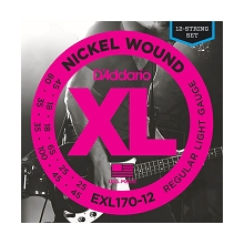 D'Addario XL Nickel Wound Bass String Set Long Scale - Octave 12-String 45-100 EXL170-12