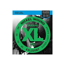 D'Addario XL Nickel Wound Bass String Set Long Scale - 4-String 40-095 Balanced Tension EXL220BT