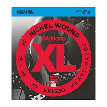 D'Addario XL Nickel Wound Bass String Set Long Scale - 4-String 55-110 Heavy EXL230