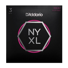 D'Addario NYXL Nickel Wound Guitar String Sets 09-42 3-Pack Super Light NYXL0942-3P