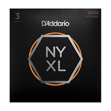 D'Addario NYXL Nickel Wound Guitar String Sets 10-46 3-Pack Light NYXL1046-3P