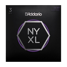 D'Addario NYXL Nickel Wound Guitar String Sets 11-49 3-Pack Medium NYXL1149-3P