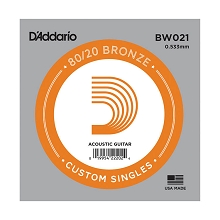 D'Addario 80/20 Bronze Single Acoustic Guitar String .020w