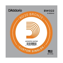 D'Addario 80/20 Bronze Single Acoustic Guitar String .022w
