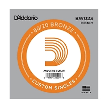 D'Addario 80/20 Bronze Single Acoustic Guitar String .023w