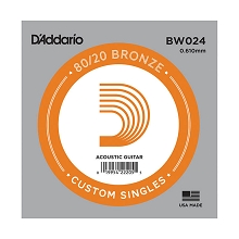 D'Addario 80/20 Bronze Single Acoustic Guitar String .024w