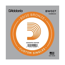 D'Addario 80/20 Bronze Single Acoustic Guitar String .027w