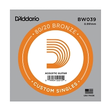 D'Addario 80/20 Bronze Single Acoustic Guitar String .039w