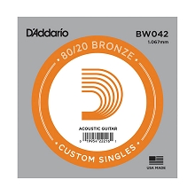 D'Addario 80/20 Bronze Single Acoustic Guitar String .042w