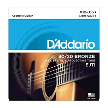 D'Addario 80/20 Bronze Acoustic Guitar String Set 12-53 Light EJ11